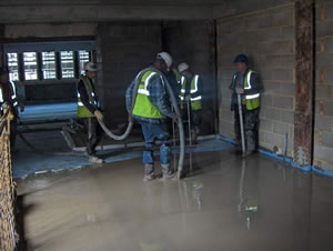 Cementitious Self Levelling Screed Flooring Installation